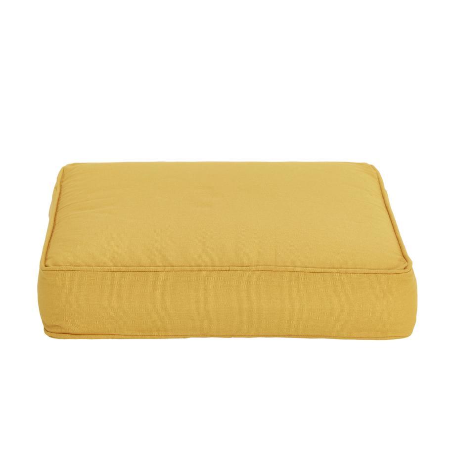 Hohes Sitzkissen Zoey in Gelb, Bezug: 100% Baumwolle, Gelb, 40 x 40 cm