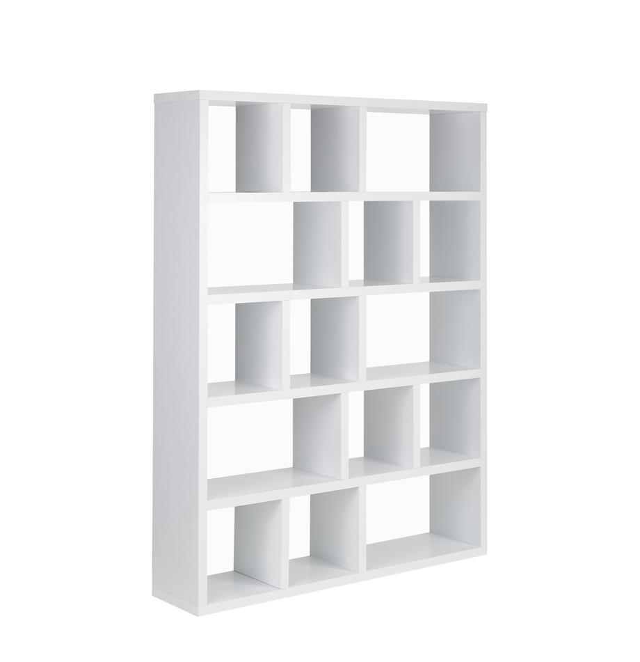 Wit wandrek Portlyn van hout, Mat wit, 150 x 198 cm