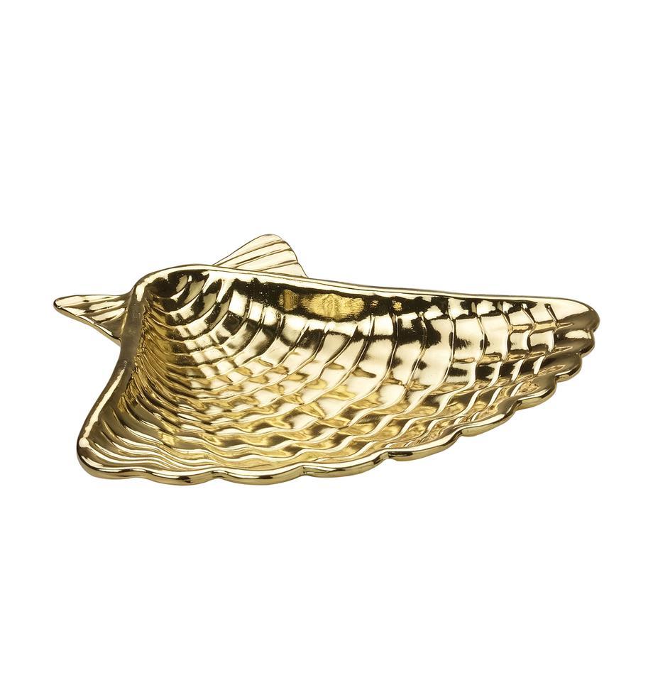 Portasapone Shell, Metallo rivestito, Dorato, Larg. 14 x Alt. 2 cm