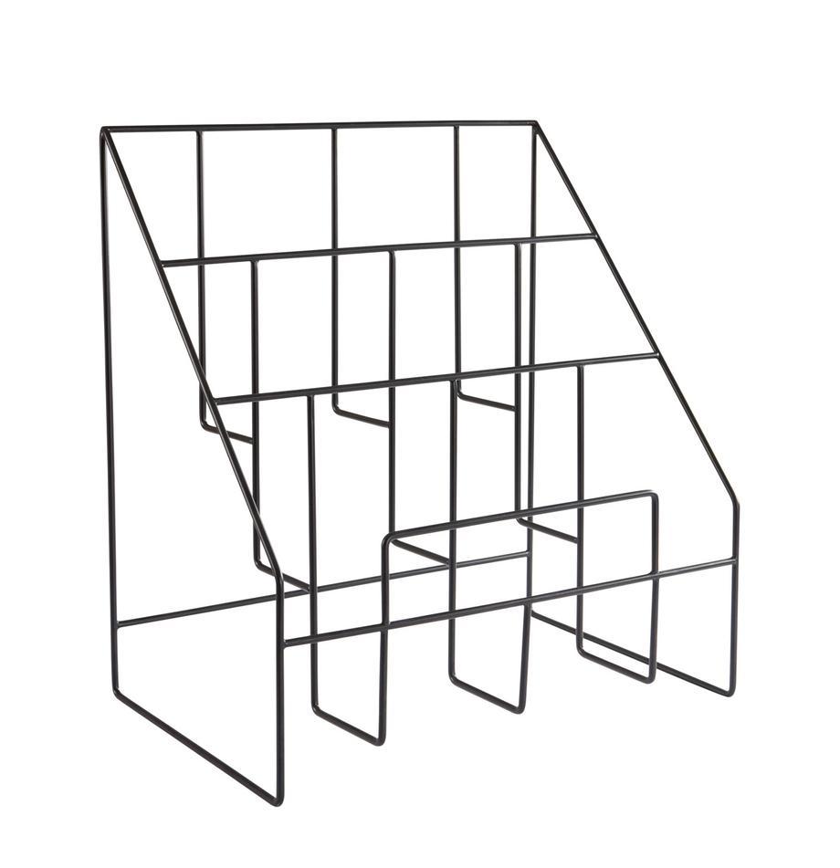 Tijdschriftenhouder Freddy, Gelakt metaal, Zwart, 38 x 41 cm