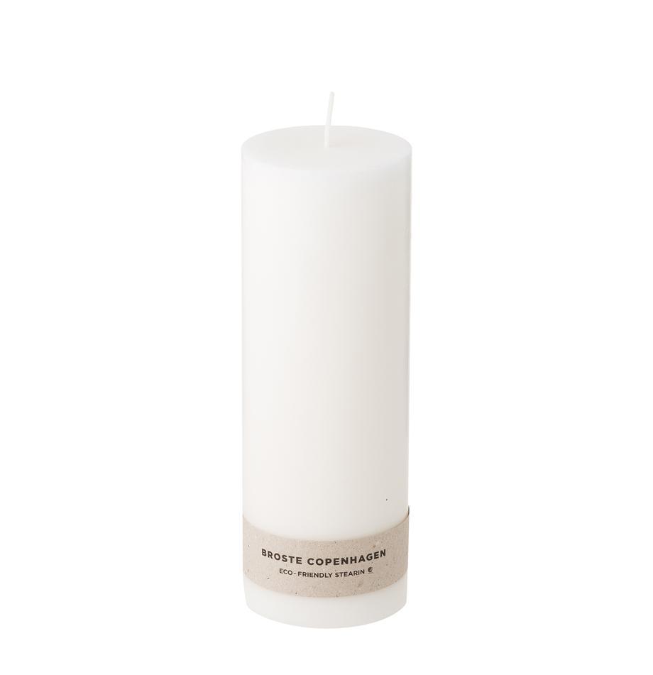Stumpenkerzen Light, 2 Stück, 100% Stearin, Weiß, Ø 7 x H 20 cm