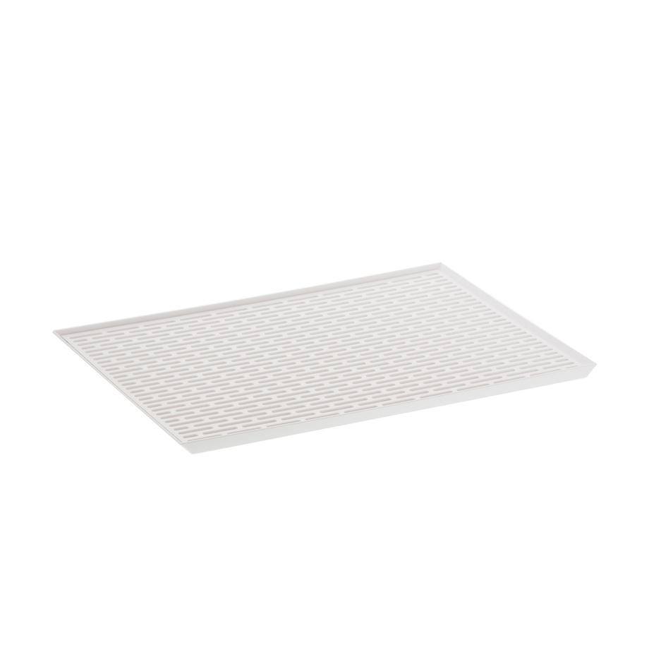 Abtropfmatte Tower, Kunststoff (ABS), Weiß, 43 x 2 cm