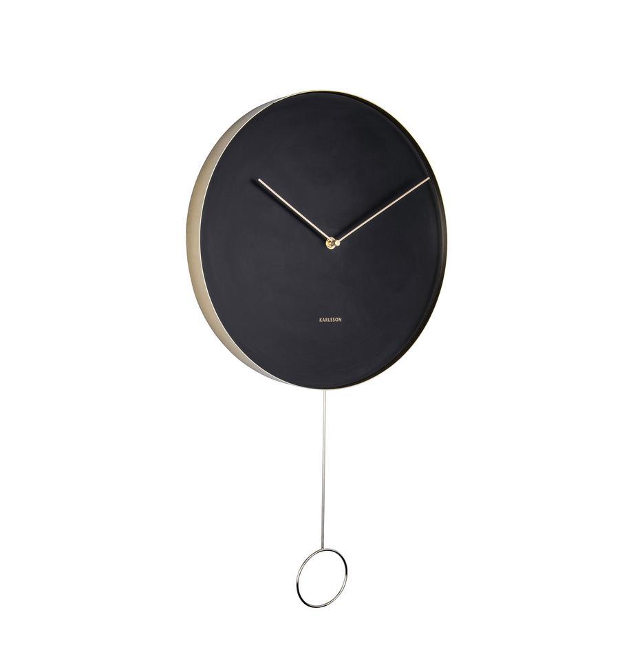 Orologio da parete Pendulum, Metallo rivestito, Nero, ottonato, Ø 34 cm