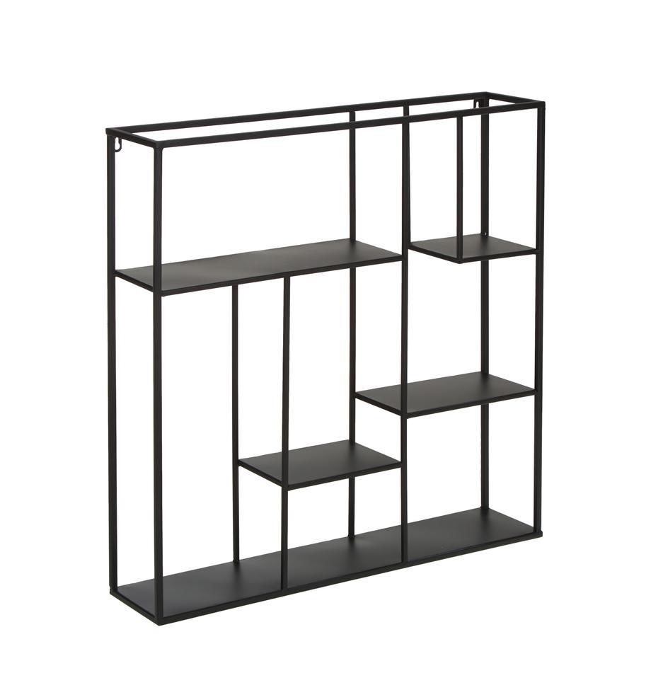 Estantería de pared de metal Regular, Metal pintado, Negro, An 70 x Al 70 cm