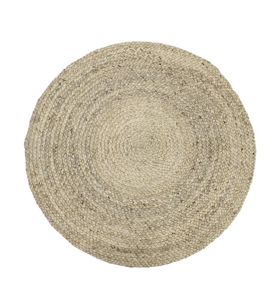 Okrągły ręcznie tkany dywan z juty Sharmila, Beżowy, Ø 100 cm (Rozmiar XS)