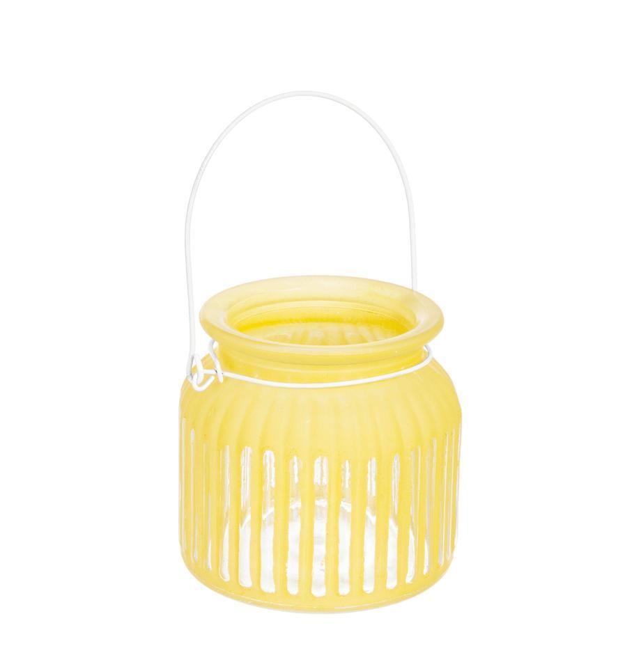 Windlicht Claire, Windlicht: glas, Geel, Ø 11 x H 11 cm