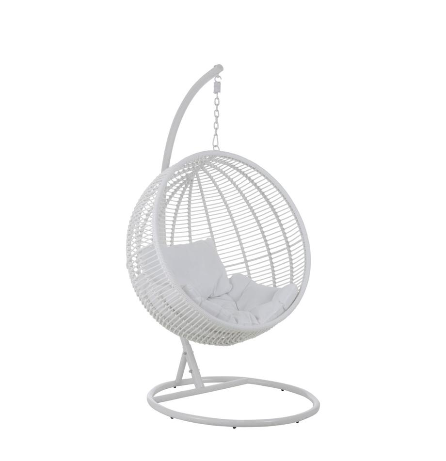 Runder Hängesessel Round mit Metall-Gestell, Weiss, 119 x 193 cm