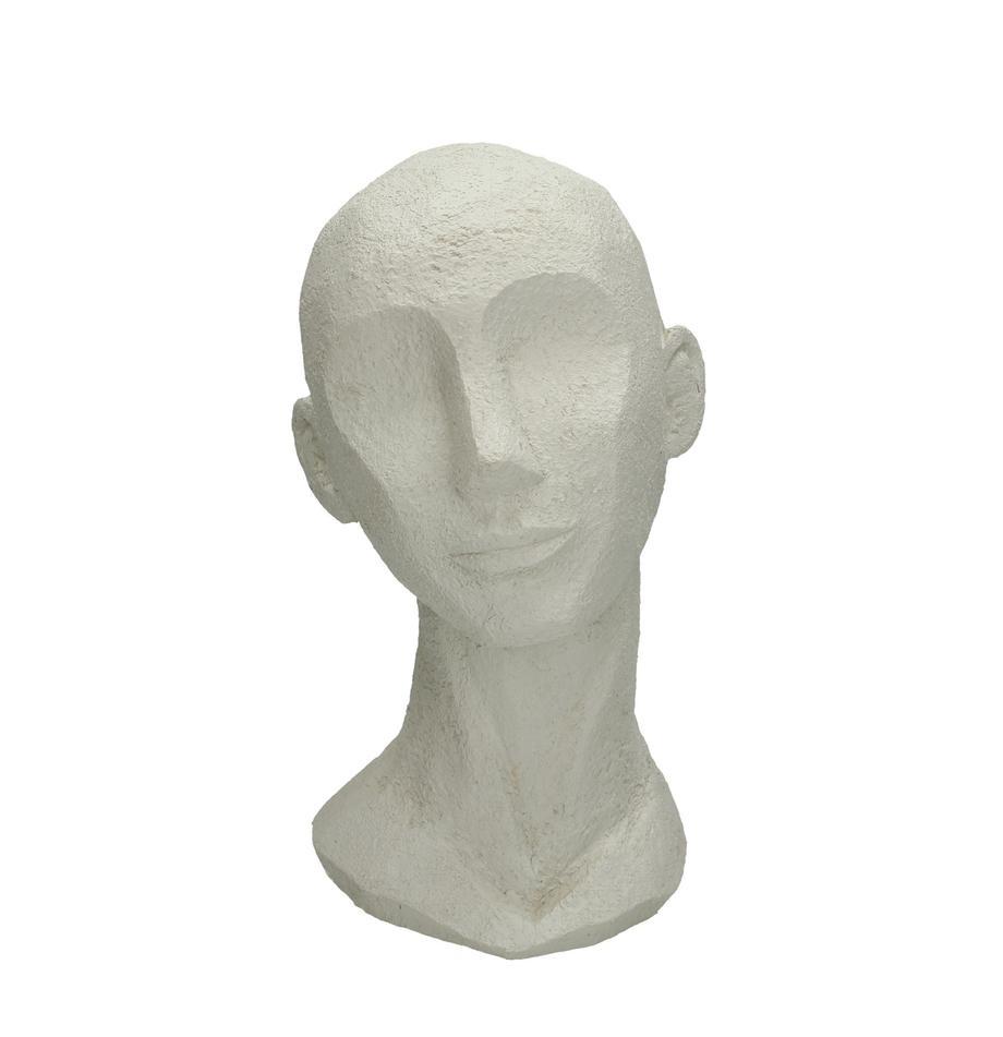 Deko-Objekt Head, Polyresin, Gebrochenes Weiss, 18 x 28 cm
