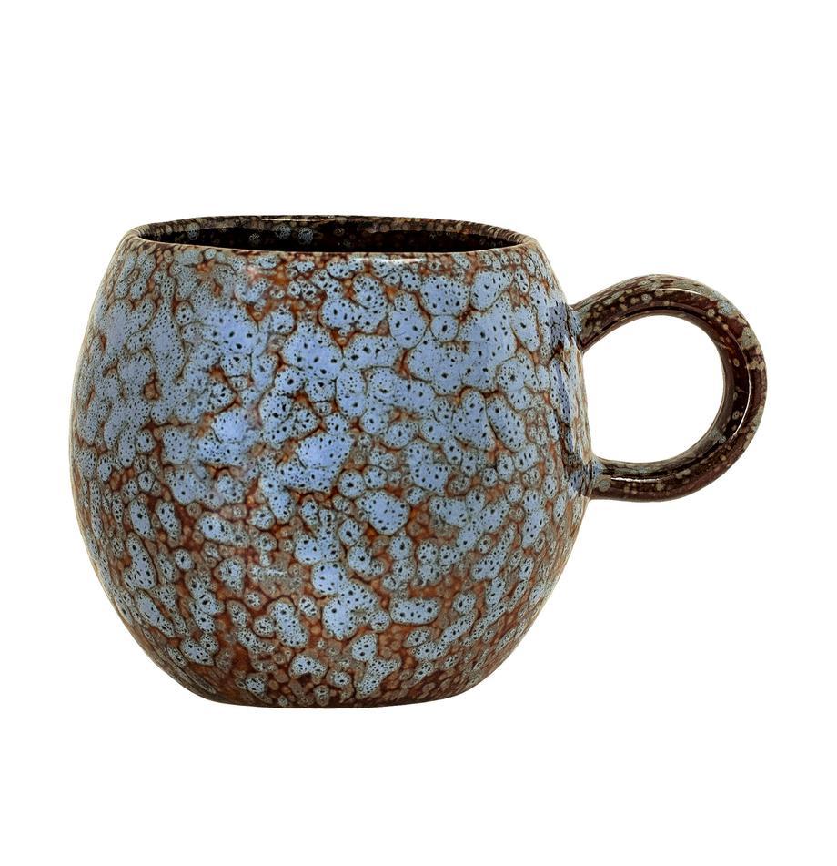 Kopje Paula, Keramiek, Blauw, bruin, Ø 9 x H 8 cm