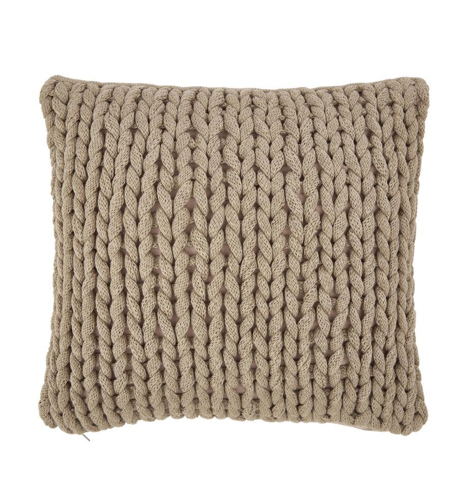 Poszewka na poduszkę Adyna, 100% poliakryl, Beżowy, S 45 x D 45 cm