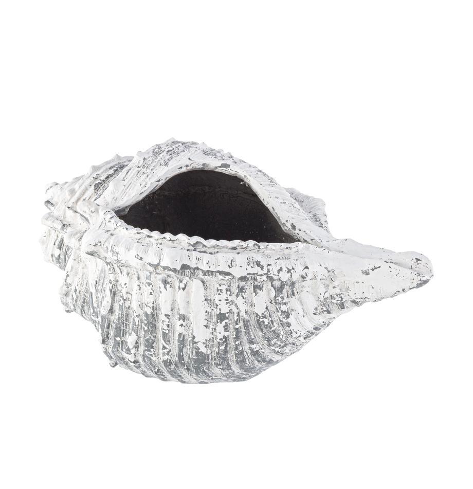 XL Pflanztopf Shell, Mineral, Grau, Weiß, 68 x 35 cm