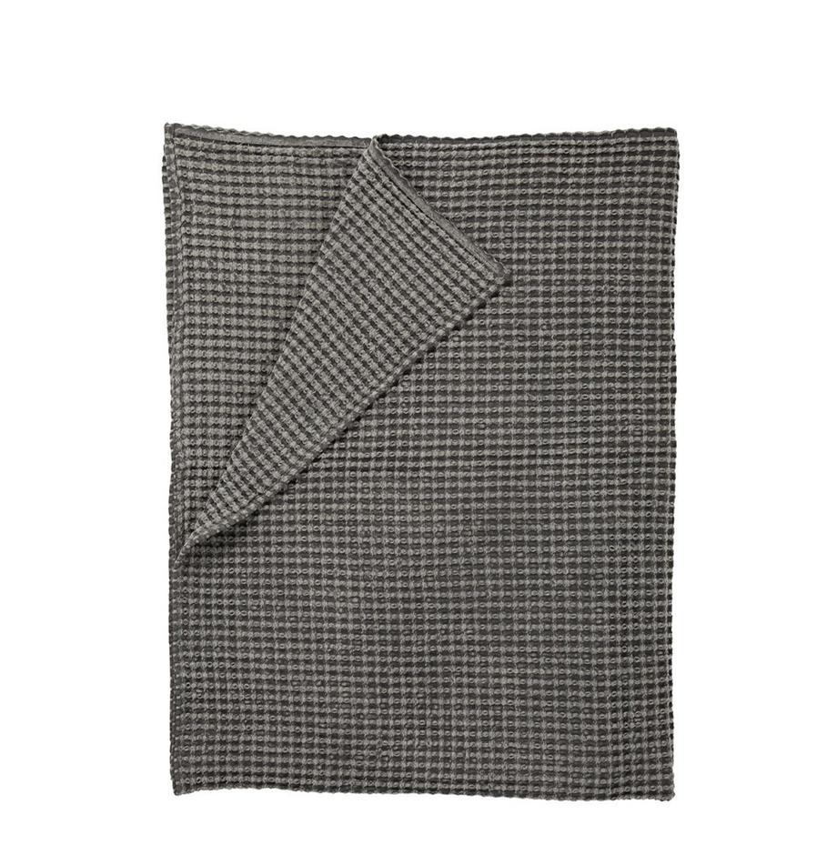 Narzuta z piki Kikai, 100% bawełna, Szary, S 180 x D 260 cm
