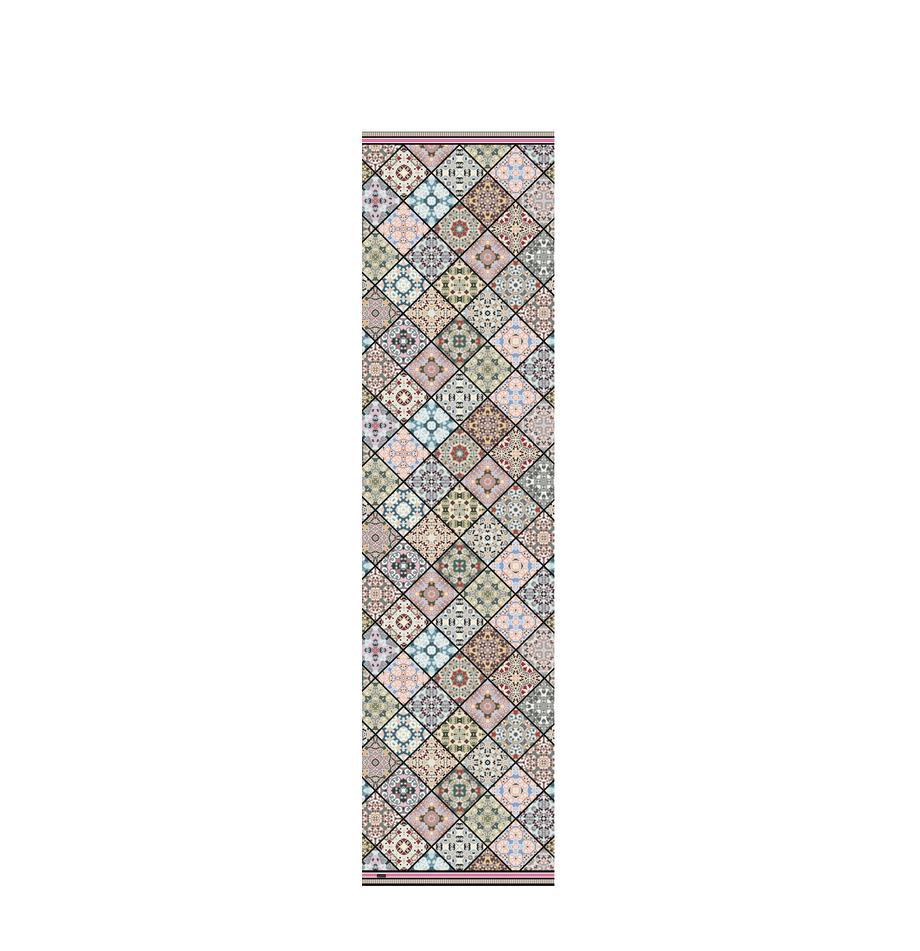 Passatoia in vinile riciclabile Aylin, Vinile riciclabile, Multicolore, Larg. 65 x Lung. 255 cm