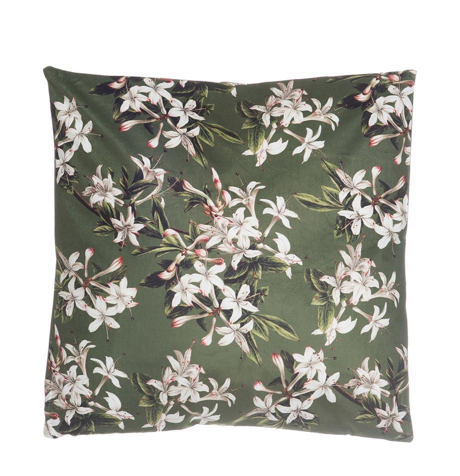 Cojín de terciopelo Spring, con relleno, Funda: terciopelo de poliéster, Multicolor, An 45 x L 45 cm