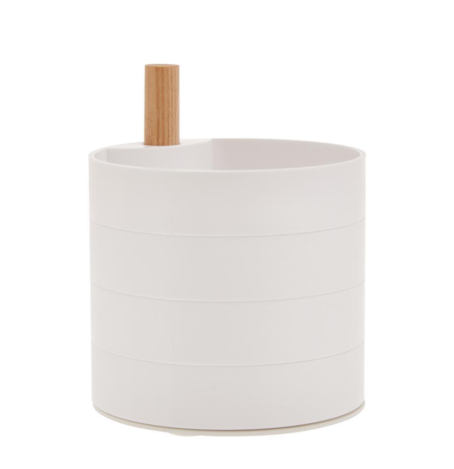 Joyero Tosca, Blanco, marrón, An 10 x Al 12 cm