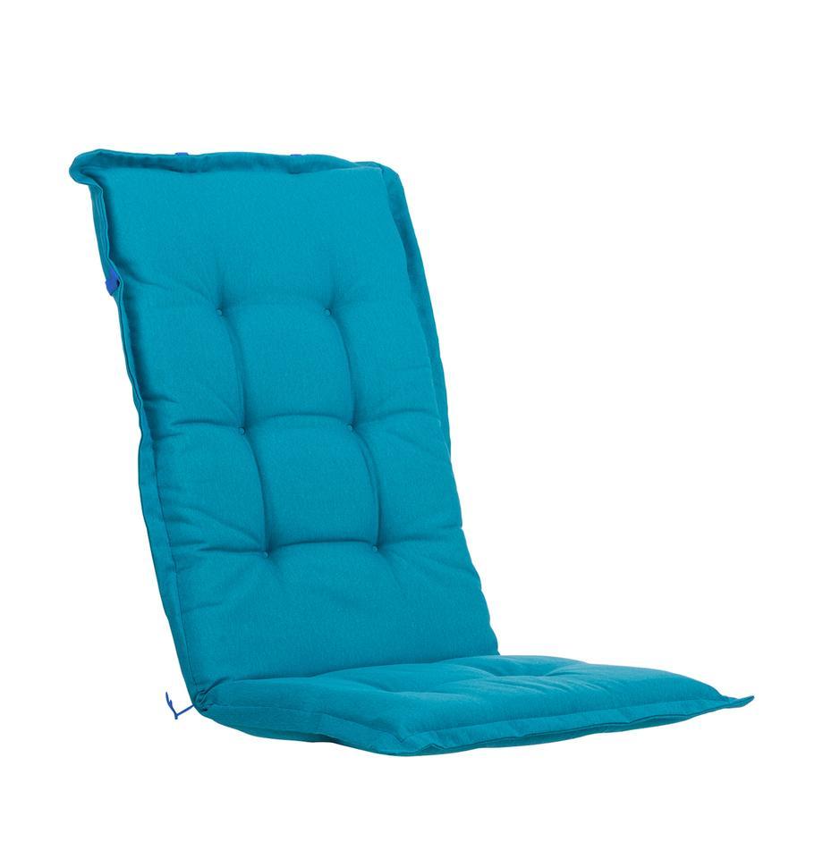 Nakładka na siedzisko z oparciem Panama, Tapicerka: 50% bawełna, 50%polieste, Turkusowoniebieski, S 50 x D 123 cm