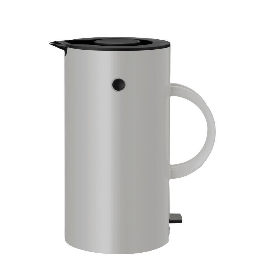 Wasserkocher EM77 in Grau glänzend, Gehäuse: Metall, beschichtet, Hellgrau, Schwarz, 1,5 L