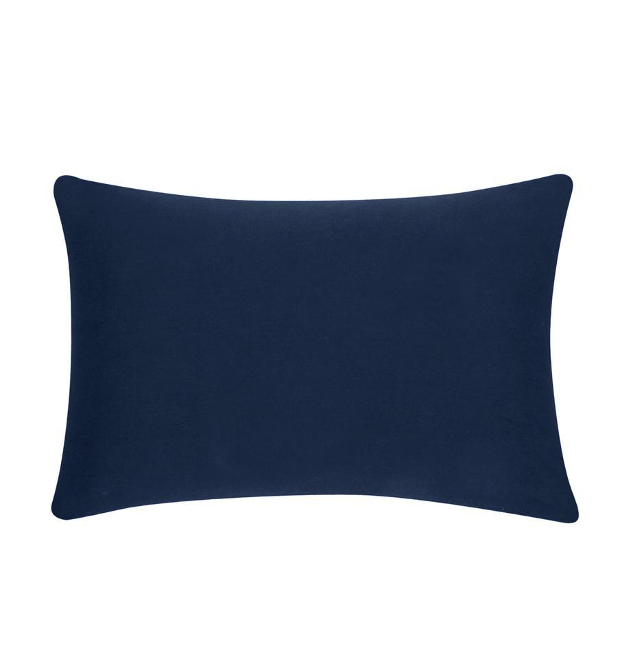 Katoenen kussenhoes Mads in marineblauw, 100% katoen, Marineblauw, 30 x 50 cm
