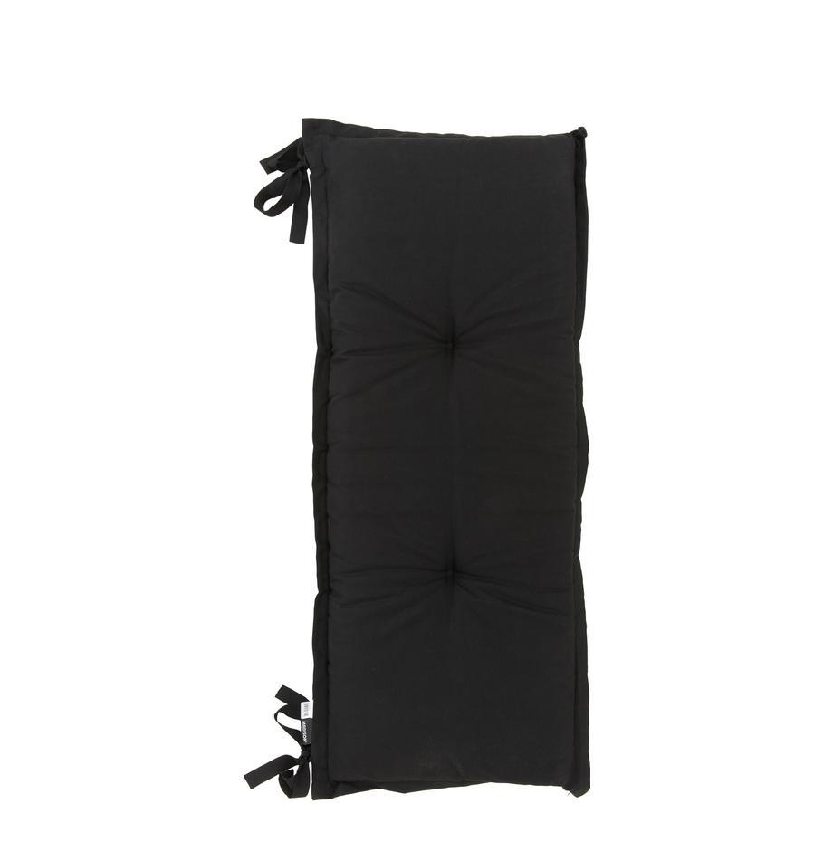 Nakładka na ławkę Panama, 50% bawełna, 45% poliester, 5% inne włókna, Czarny, S 48 x D 120 cm