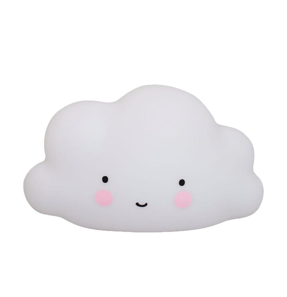 Nuvoletta a LED Cloud, Materiale sintetico, Bianco, rosa, nero, Larg. 45 x Alt. 25 cm