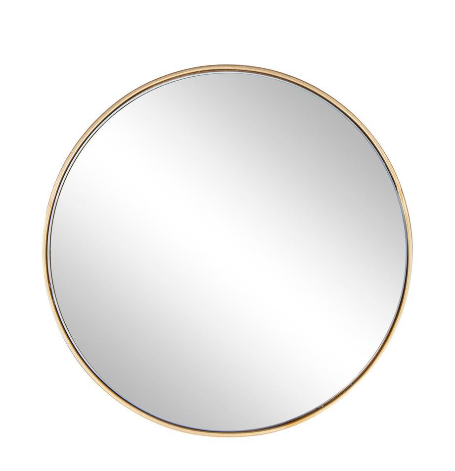 Okrągłe lustro ścienne Nucleos, Odcienie mosiądzu, Ø 40 cm