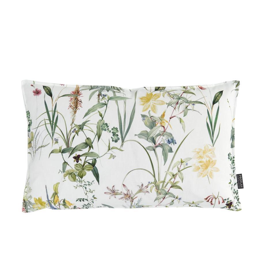 Kussenhoes Anjuli met bloemenprint, 100% katoen, Wit, multicolour, 30 x 50 cm