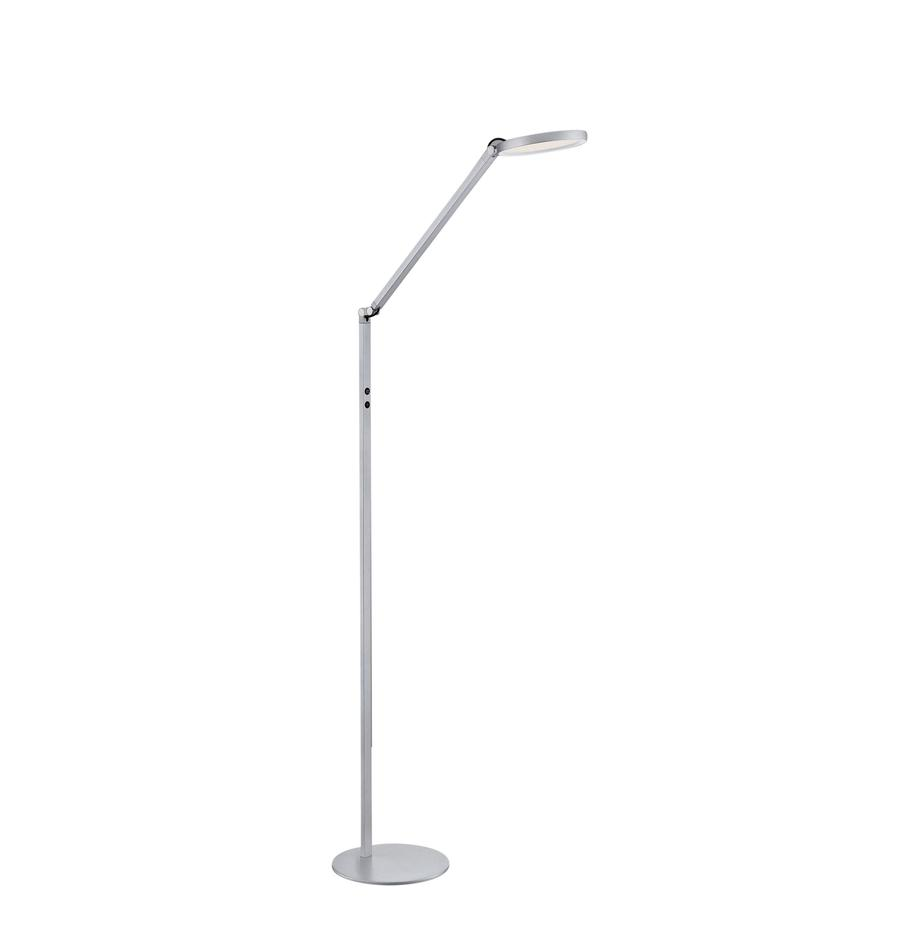 Lámpara de pie LED Regina, Pantalla: metal metacrilato, Cable: plástico, Plateado, An 60 x Al 160 cm