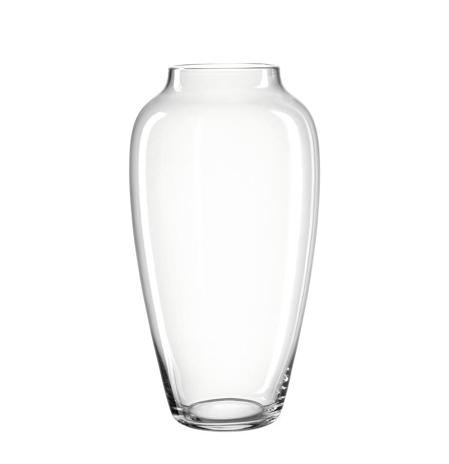 Duży wazon ze szkła Casolare, Szklanka, Transparentny, Ø 23 x W 45 cm
