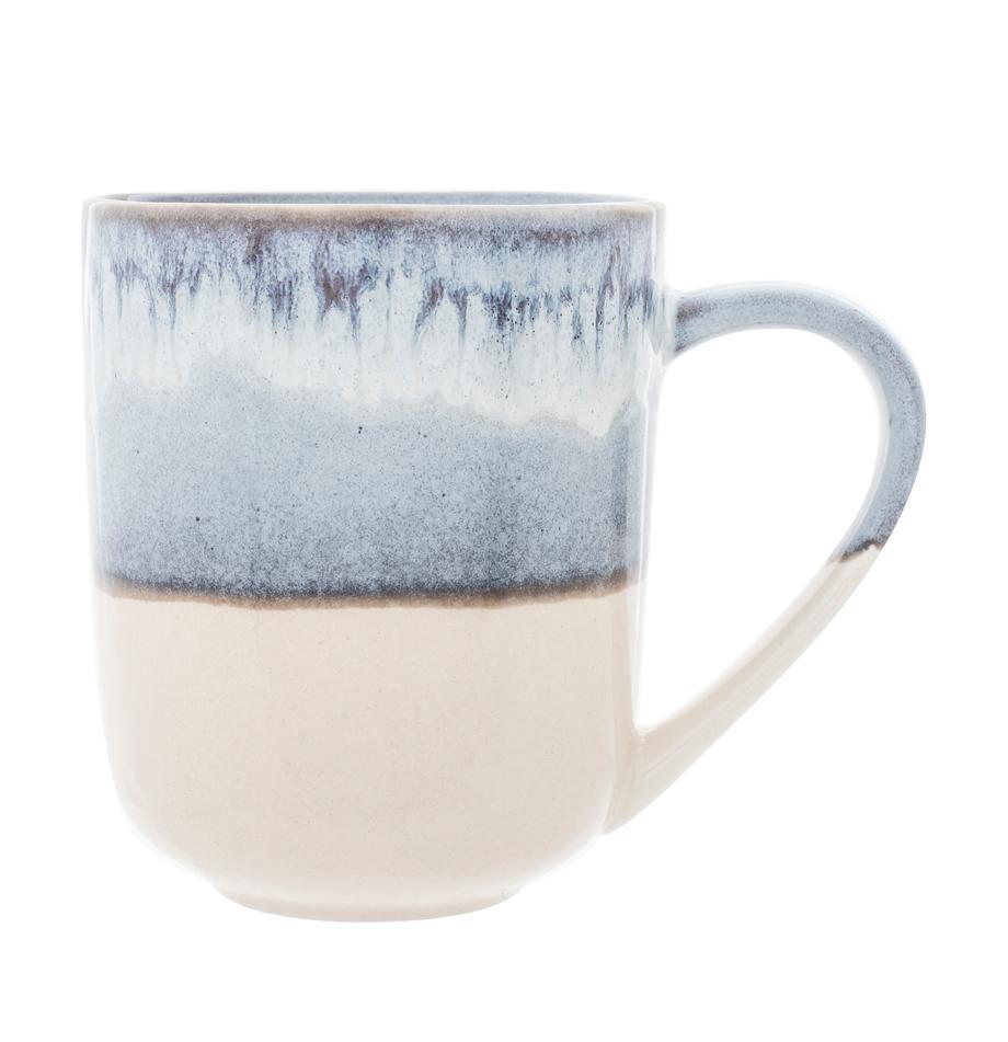 Tassen Inspiration mit Farbverlauf, 2 Stück, Steinzeug, Blau, Hellbeige, Ø 9 x H 11 cm