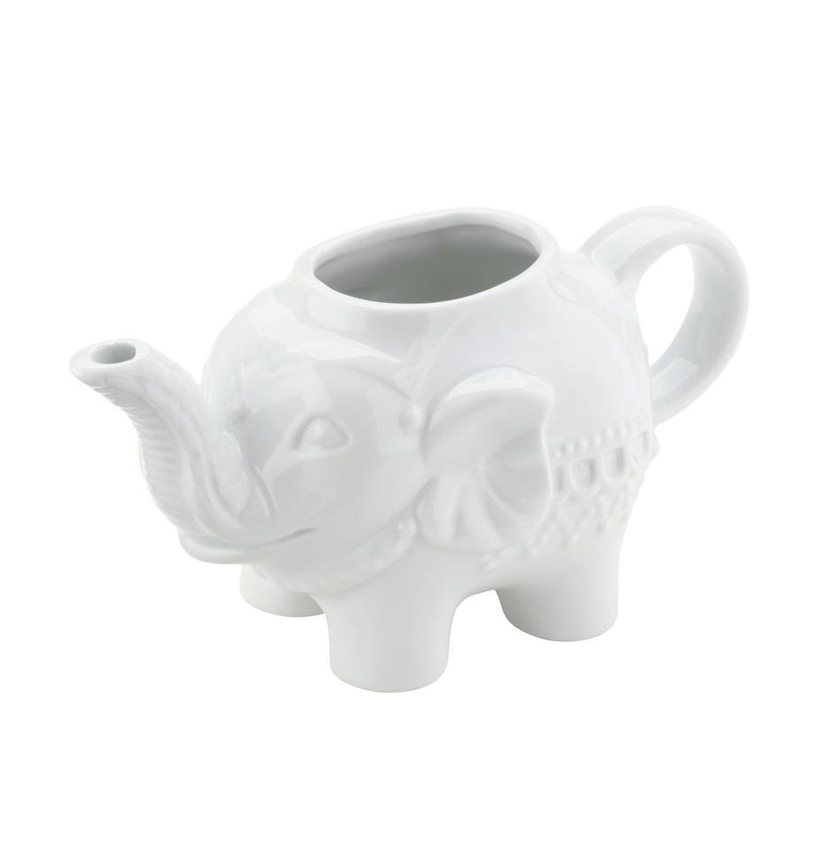 Melkkan Elephant, Porselein, Wit, 15 x 8 cm