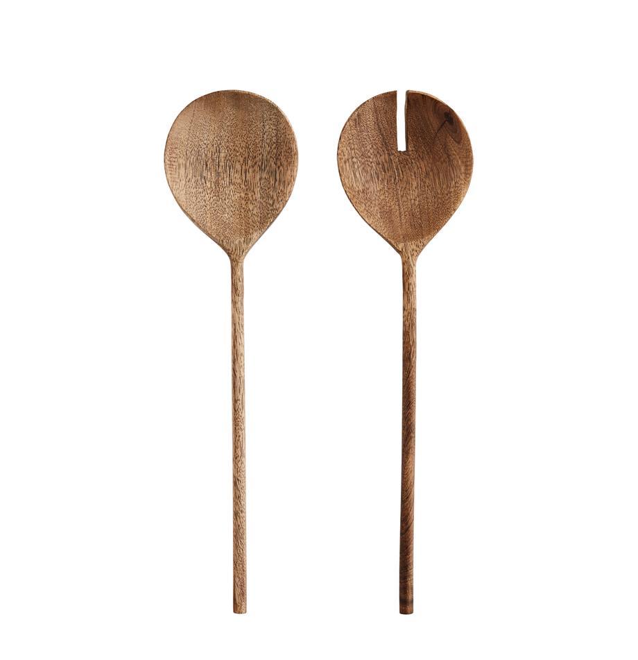 Komplet sztućców do sałatek z drewna mangowego Wodeen, 2 elem., Drewno mangowe, Drewno mangowe, D 28