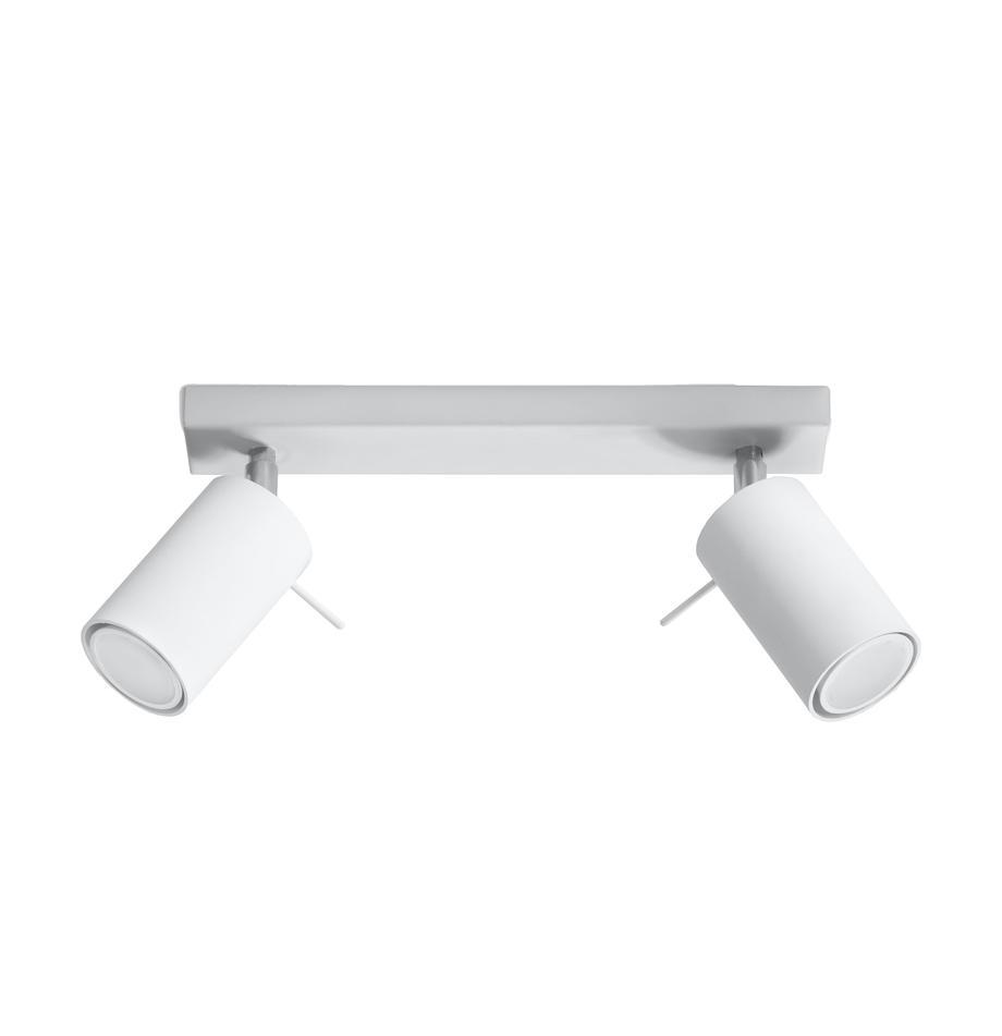 Riel Etna, Estructura: acero, Anclaje: acero pintado, Blanco, An 30 x Al 15 cm