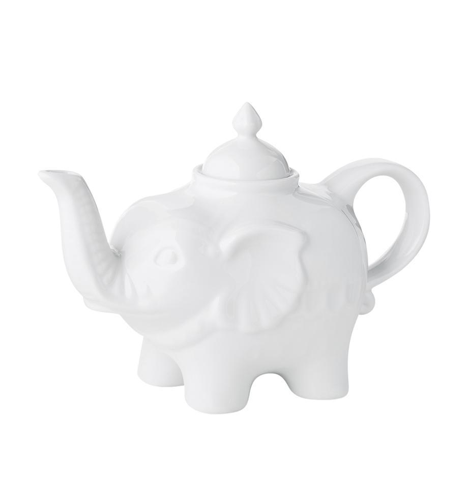Tetera de cerámica Elephant, 900ml, Cerámica, Blanco, 900 ml