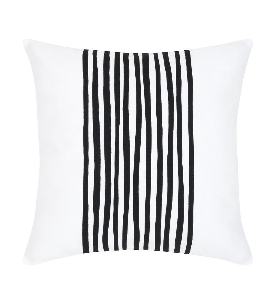 Poszewka na poduszkę Corey, Bawełna, Czarny, biały, S 40 x D 40 cm