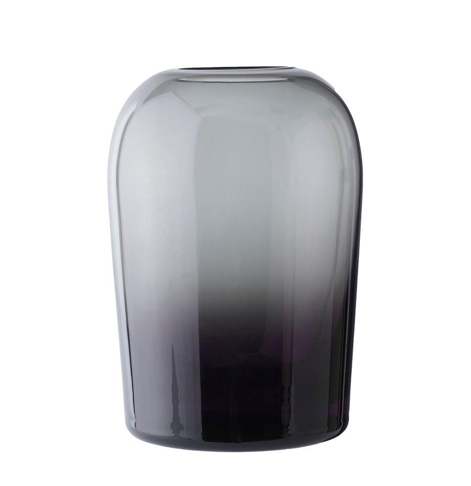 Mundgeblasene Vase Troll, Glas, mundgeblasen, Rauchgrau, Ø 13 x H 19 cm