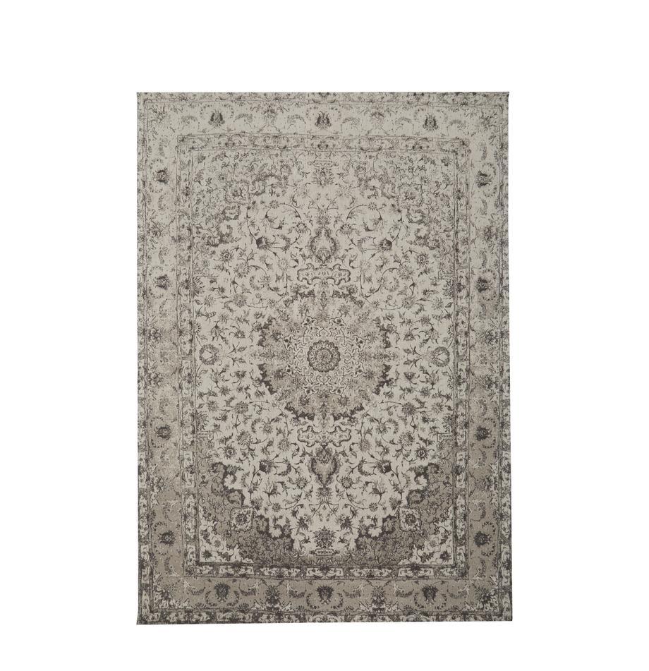 Tappeto in ciniglia tessuto a mano Sofia, Retro: 100% cotone, Beige, grigio, Larg.160 x Lung. 230 cm (taglia M)