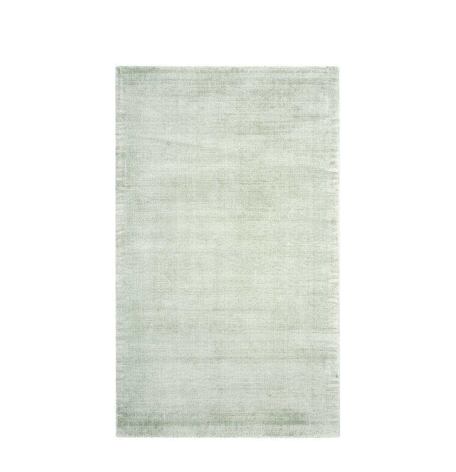 Tappeto in viscosa tessuto a mano Jane, Retro: 100% cotone, Verde lime, Larg. 90 x Lung. 150 cm (taglia XS)
