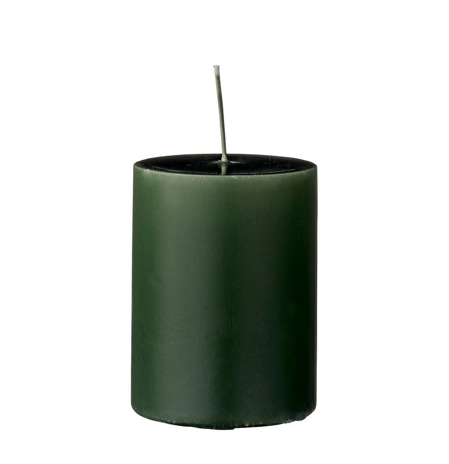 Świeca pieńkowa Lulu, 4 szt., Wosk, Zielony leśny, Ø 7 x W 10 cm