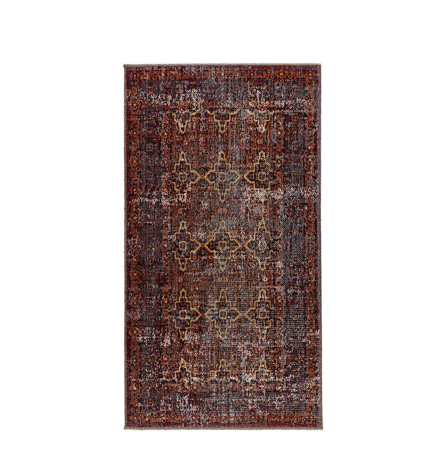 Dywan wewnętrzny/zewnętrzny Tilas Izmir, Ciemny czerwony, musztardowy, khaki, S 80 x D 150 cm (Rozmiar XS)