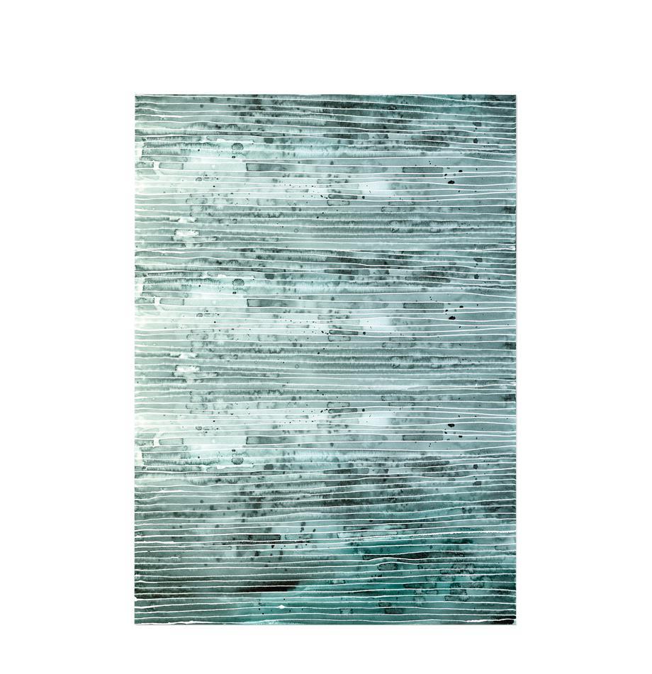 Papel para regalo Green Lines, 3uds., Papel, Verde, blanco, An 50 x Al 70 cm