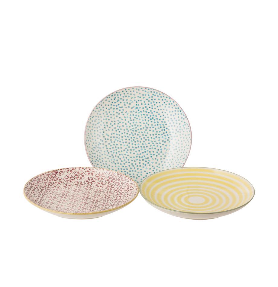 Set 3 piatti per pane Patrizia, Terracotta, Multicolore, Ø 16 cm