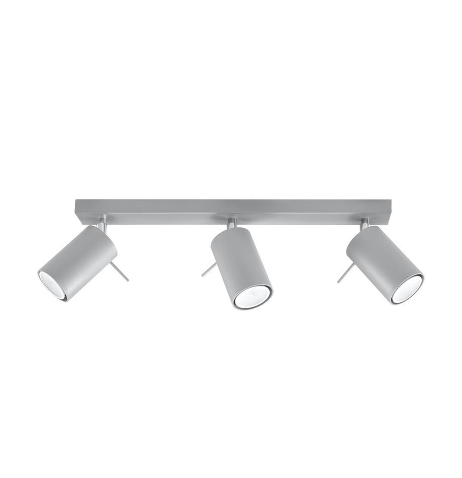 Deckenstrahler Etna in Grau, Stahl, Grau, 45 x 15 cm