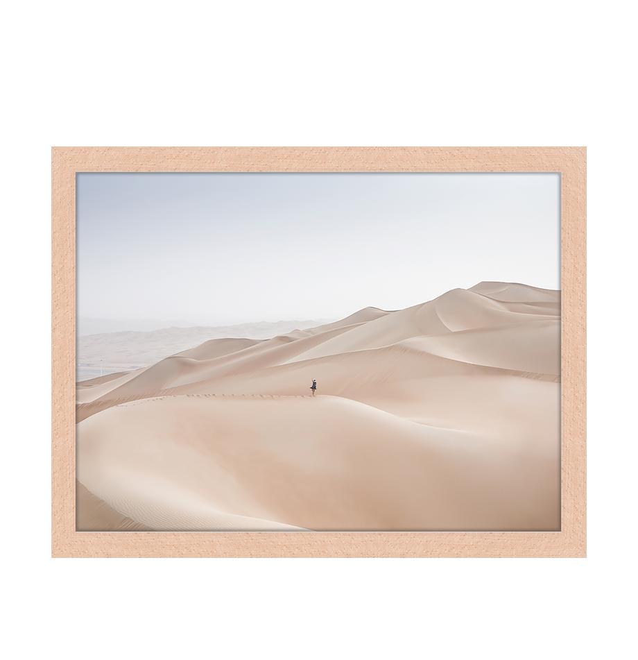 Impresión digital enmarcada Khali Desert, Multicolor, An 43 x Al 33 cm