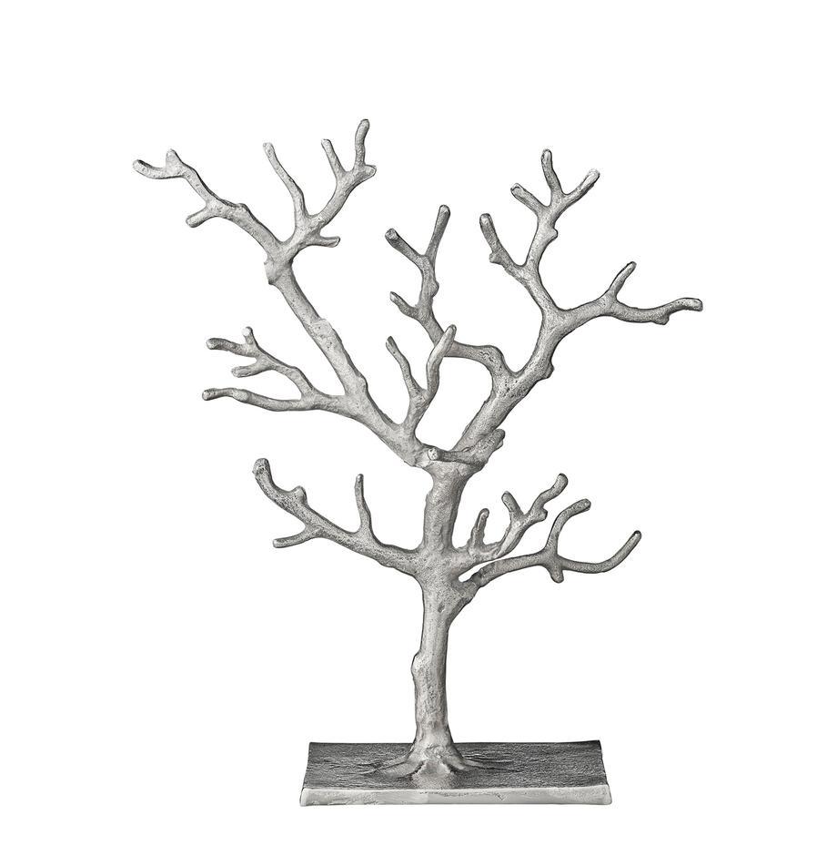 Sieradenhouder Tressa, Gecoat aluminium, Zilverkleurig, 28 x 33 cm