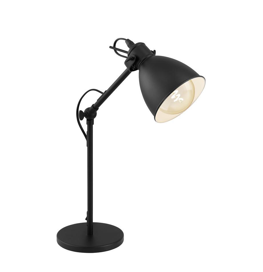 Lampada da tavolo Ethan, Paralume: metallo verniciato a polv, Base della lampada: metallo verniciato a polv, Nero, Ø 15 x Alt. 43 cm