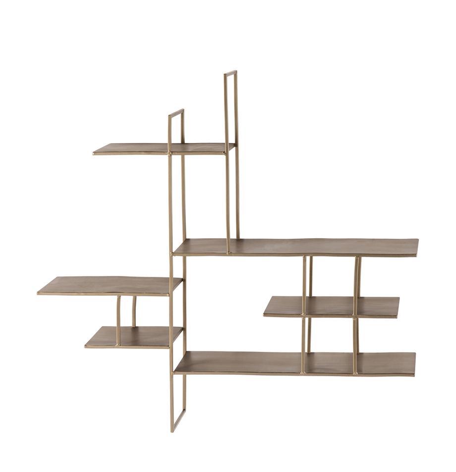 Metall-Wandregal Zach, Stahl, lackiert, Grau, 91 x 87 cm