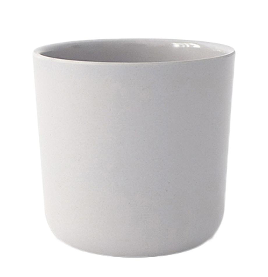 Becher Bambino, 2 Stück, Bambusfasern, Melamin, lebensmittelecht BPA, PVC und Phthalate frei, Hellgrau, 250 ml
