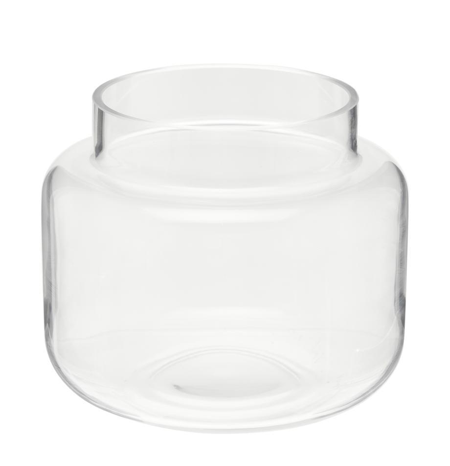 Glas-Vase Lasse, medium, Glas, Transparent, Ø 16 x H 14 cm