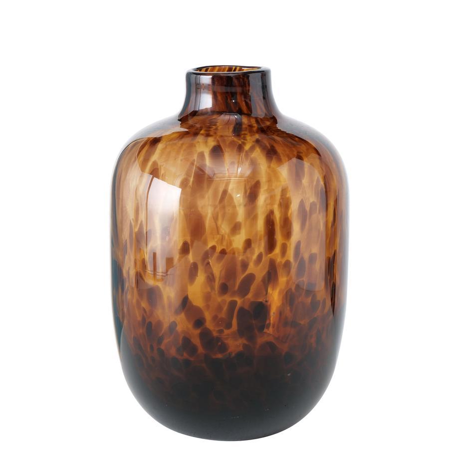 Glazen vaas Leopard, Glas, Bruintinten, Ø 16 x H 25 cm