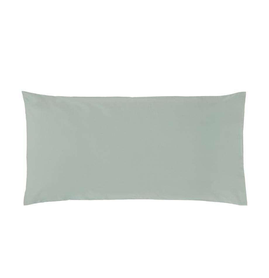 Poszewka na poduszkę z perkalu bawełnianego Elsie, 2 szt., Szałwiowy zielony, S 40 x D 80 cm
